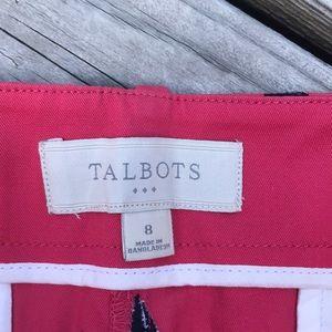 Talbots Shorts - Talbots Sailboat Embroidered Bermuda Shorts